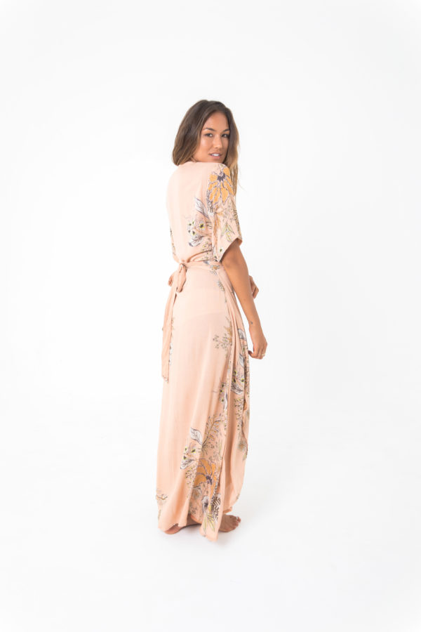 scarlet wrap maxi dress papaya kamala kaftan
