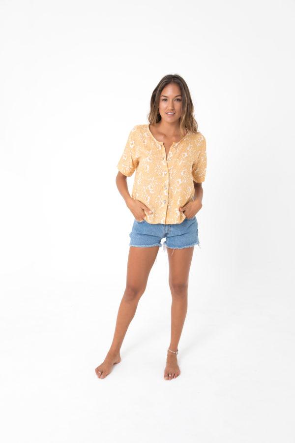 coco blouse open back shirt kamala kaftan
