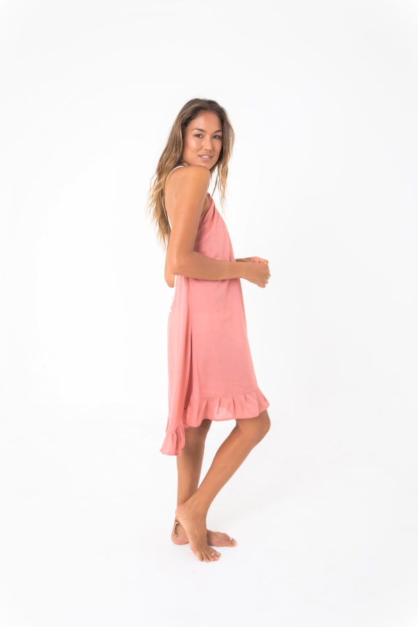 loblolly mini dress salmon kamala kaftan